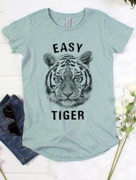 Easy Tiger Tee in Seafoam Green