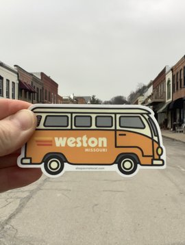Cactus Creek Orange VW Bus Weston MO Sticker
