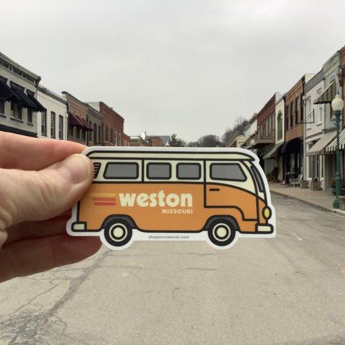 Cactus Creek Orange VW Bus Weston MO Sticker
