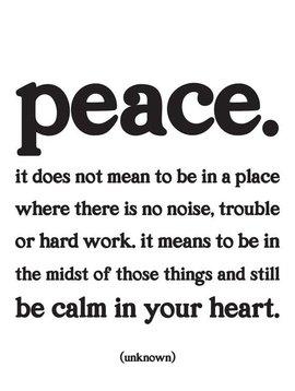 Peace. Inspirational Card
