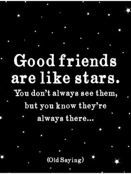 Good Friends are Like Stars Inspirational Card