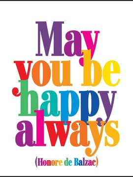 May You be Happy Always Inspirational Card