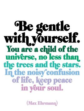 Be Gentle with Yourself Inspirational Card