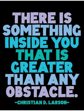 Greater than Any Obstacle Inspirational Card