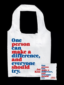 One Person can Make a Difference Fold up Tote Bag