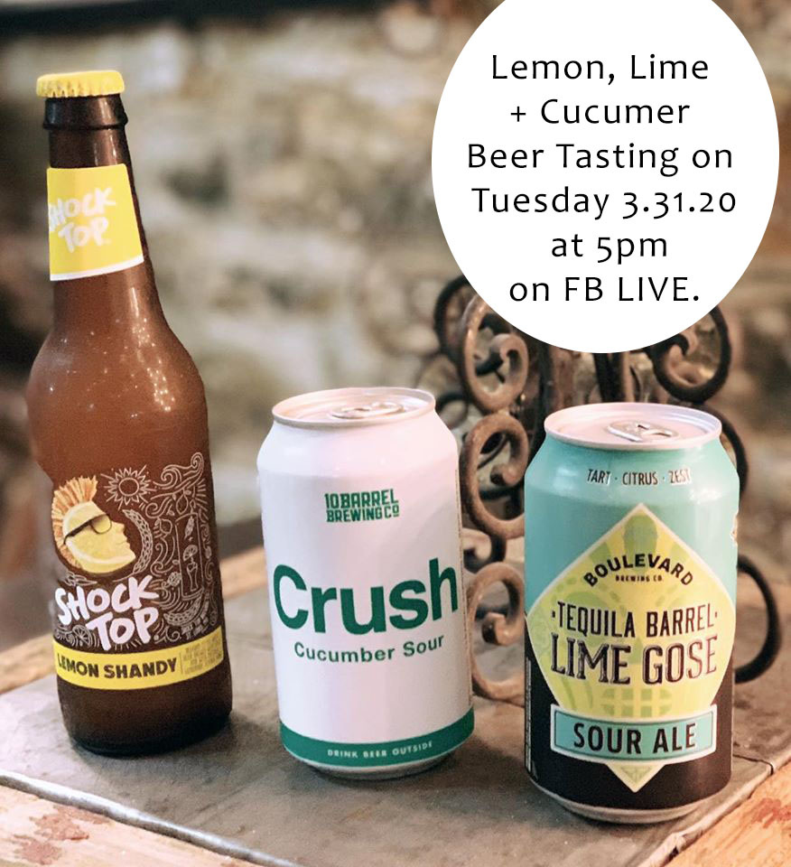 Lemon, Lime + Cucumber Virtual Beer Tasting Cactus Creek