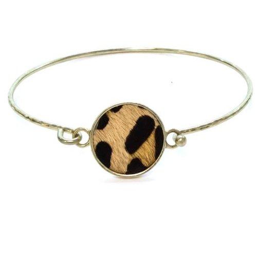 Leopard Disc Bracelet