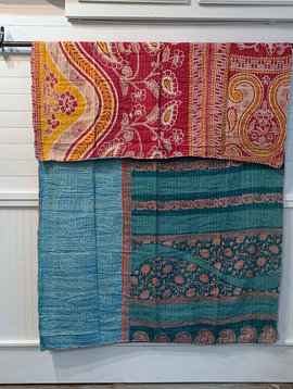 Kantha Sari Throw #175