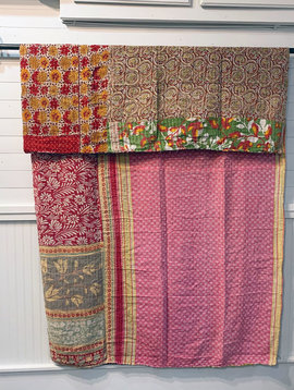 Kantha Sari Throw #176