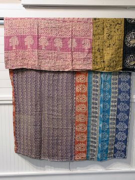 Kantha Sari Throw #181
