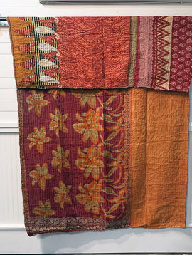 Kantha Sari Throw #182