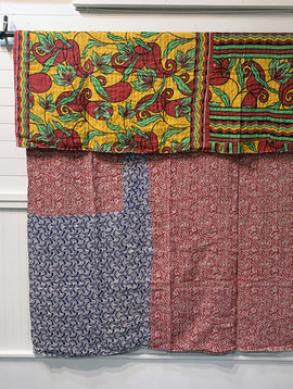Kantha Sari Throw #183