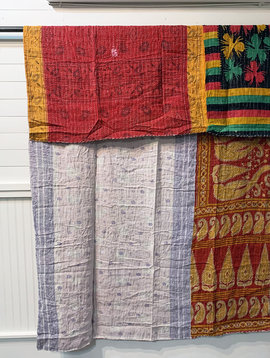 Kantha Sari Throw #184