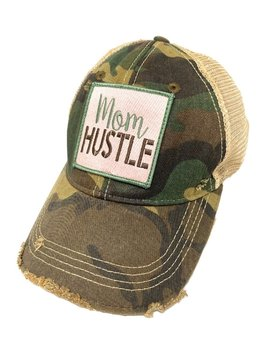 Mom Hustle Camo Ball Cap
