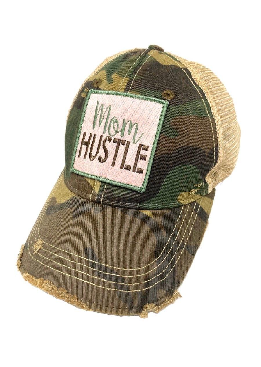 Mom Hustle Camo Ball Cap