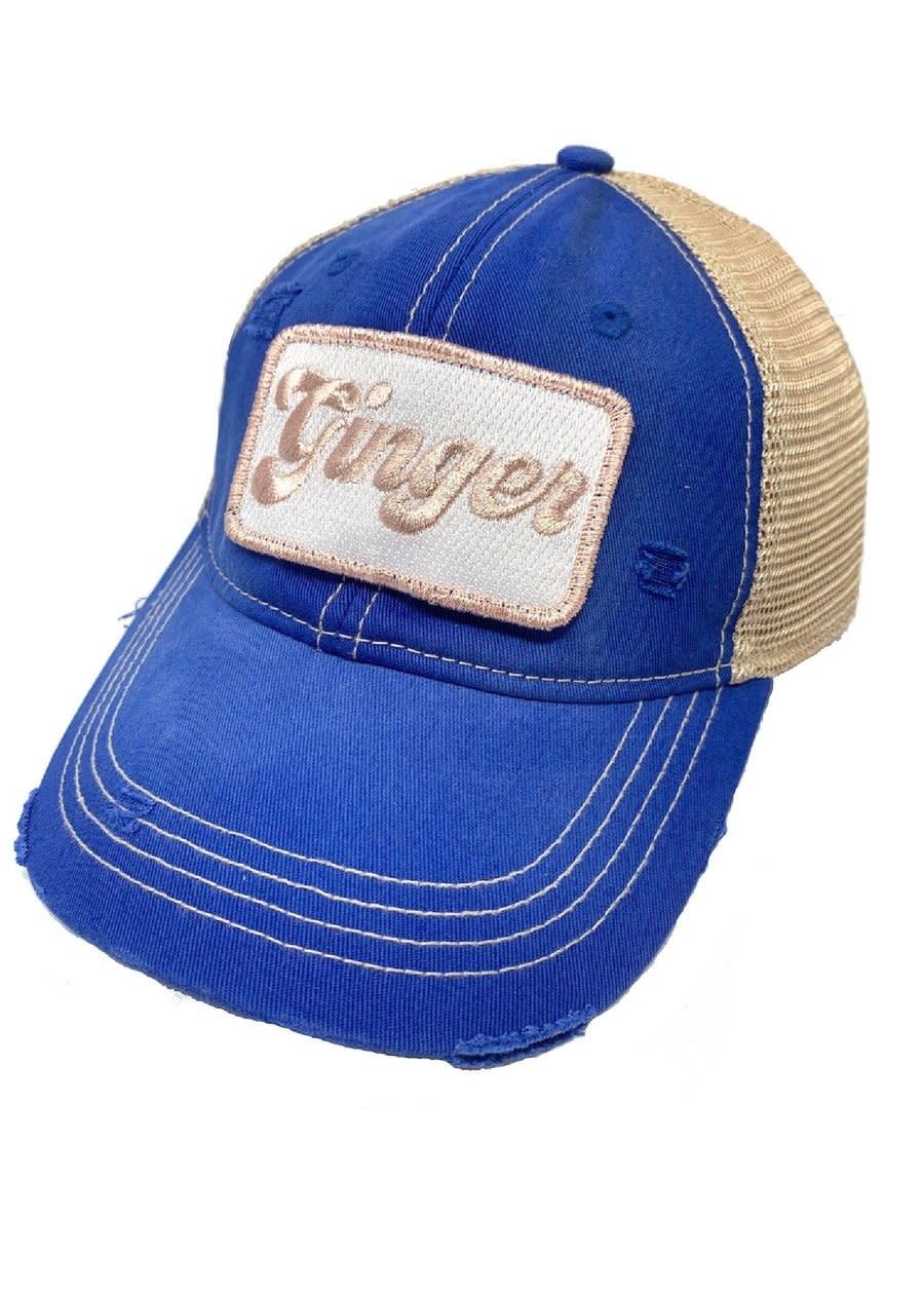 Ginger Blue Ball Cap