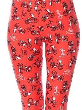 Summer Life Bicycle Elastic Band Leggings