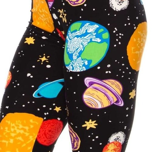 CURVY Colorful Planet Leggings