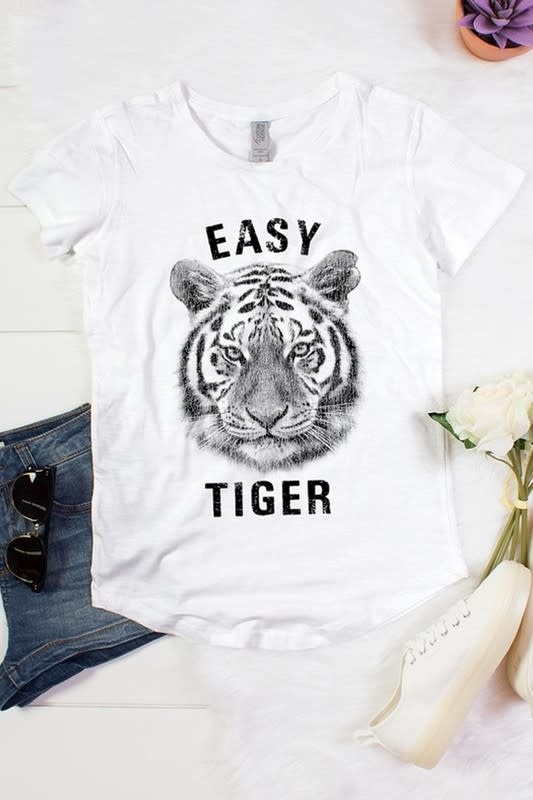 Easy Tiger Tee in White