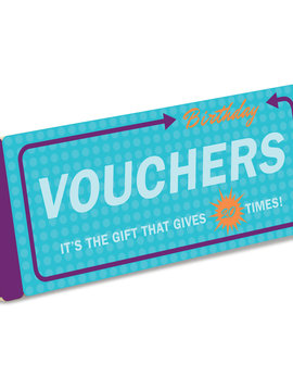 Birthday Vouchers Gift Booklet