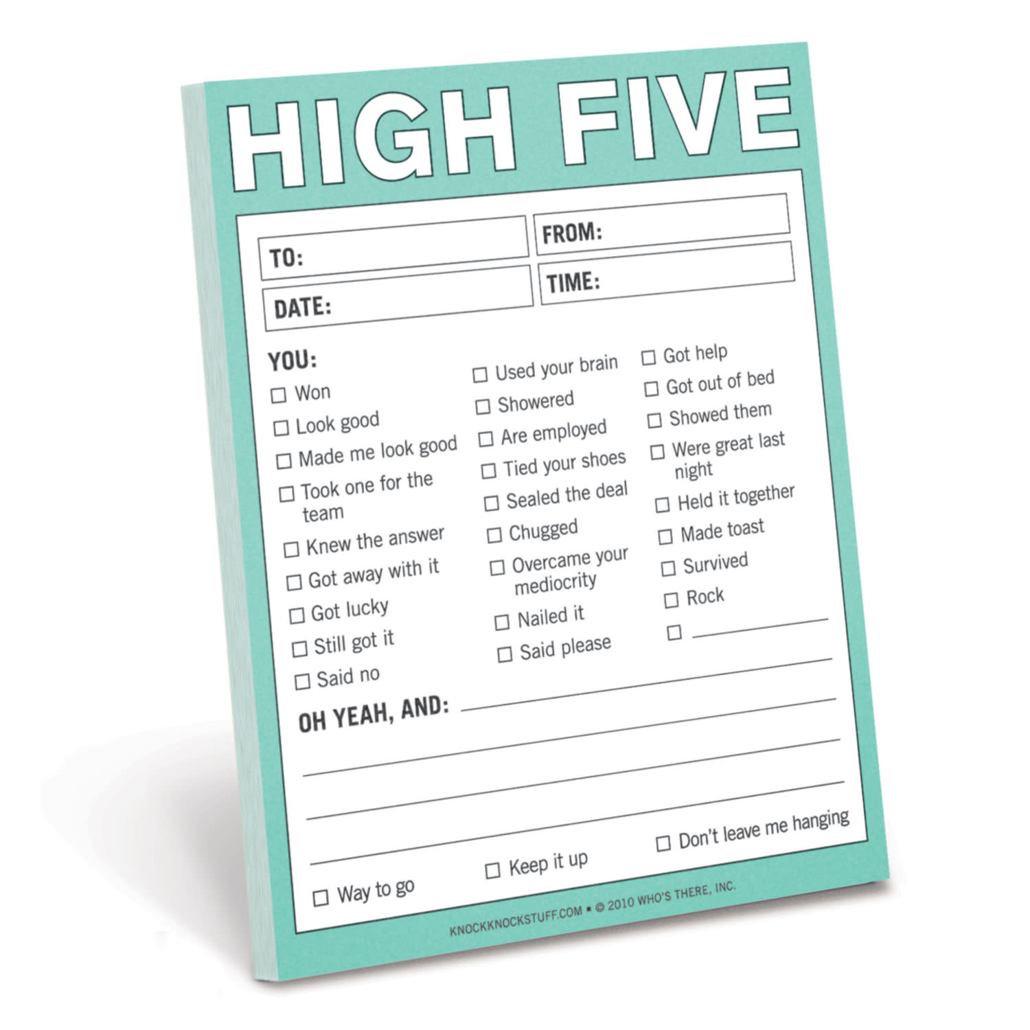 High Five Nifty Notepad