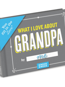 What I Love About Grandpa Fill in the Love Journal