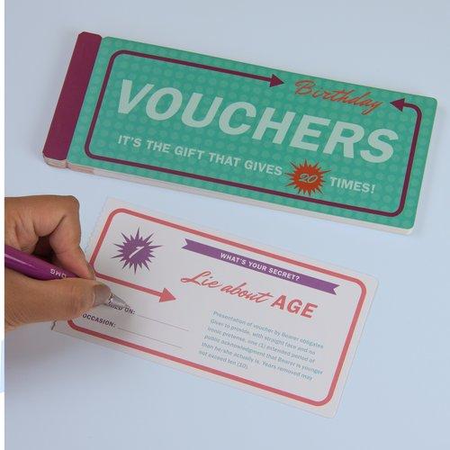 Birthday Vouchers Gift Booklet
