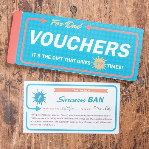 Vouchers for DAD Gift Booklet
