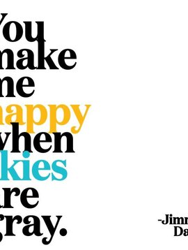 You Make me Happy Inspirational Card
