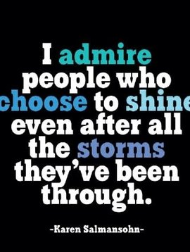 I Admire People who Choose to Shine Inspirational Card