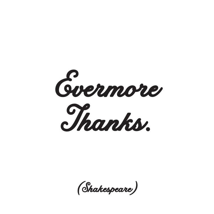 Evermore Thanks Inspirational Card