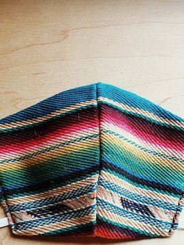 Multi Color Serape Face Mask Size Small / Medium