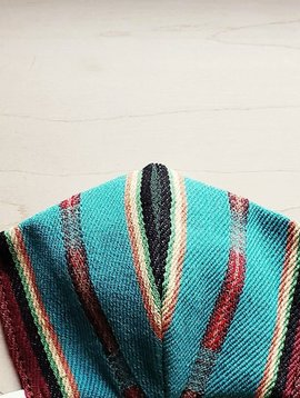 Turquoise Serape Face Mask Size Medium / Large