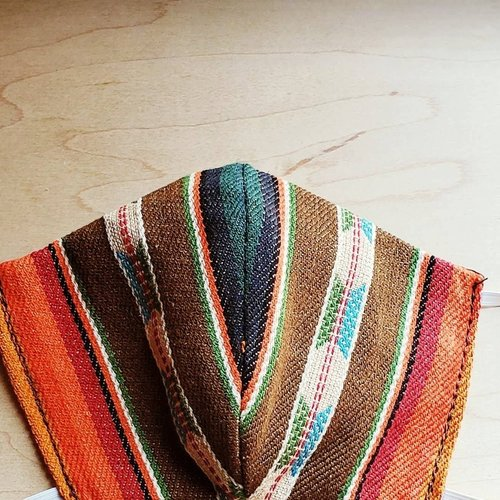 Orange + Brown Serape Face Mask Size Small/Medium