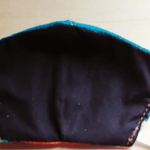 Turquoise Serape Face Mask Size Medium / Large