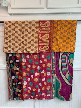 Kantha Sari Throw #210