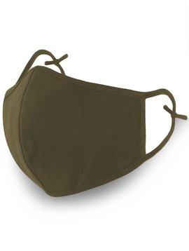 Olive Cotton Face Mask Two Layer Reusable