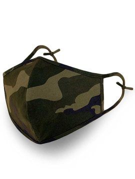 Camo Cotton Face Mask Two Layer Reusable Washable