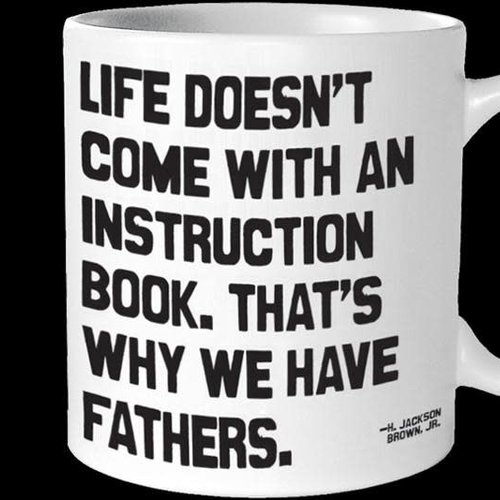 Life Doesn't Come with an Instruction Book Inspirational Mug