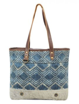 Neville Chevron Tote Bag