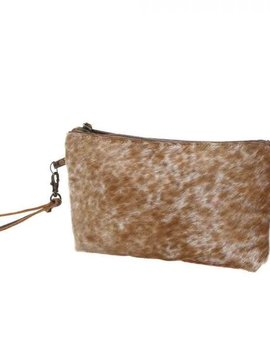 Light Brown Cowhide Clutch