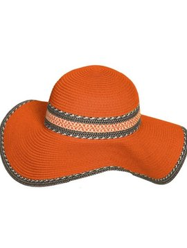 Orange Floppy Sun Hat