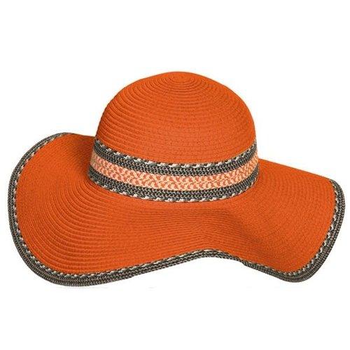 Orange Floppy Sun Hat