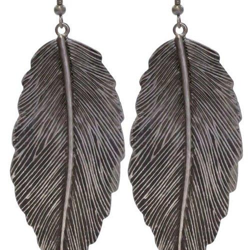 Large Leaf Silver Earring