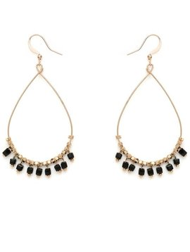 Water Drop Beaded Hoop Earring