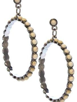 Ivory Stone Hoop Earring
