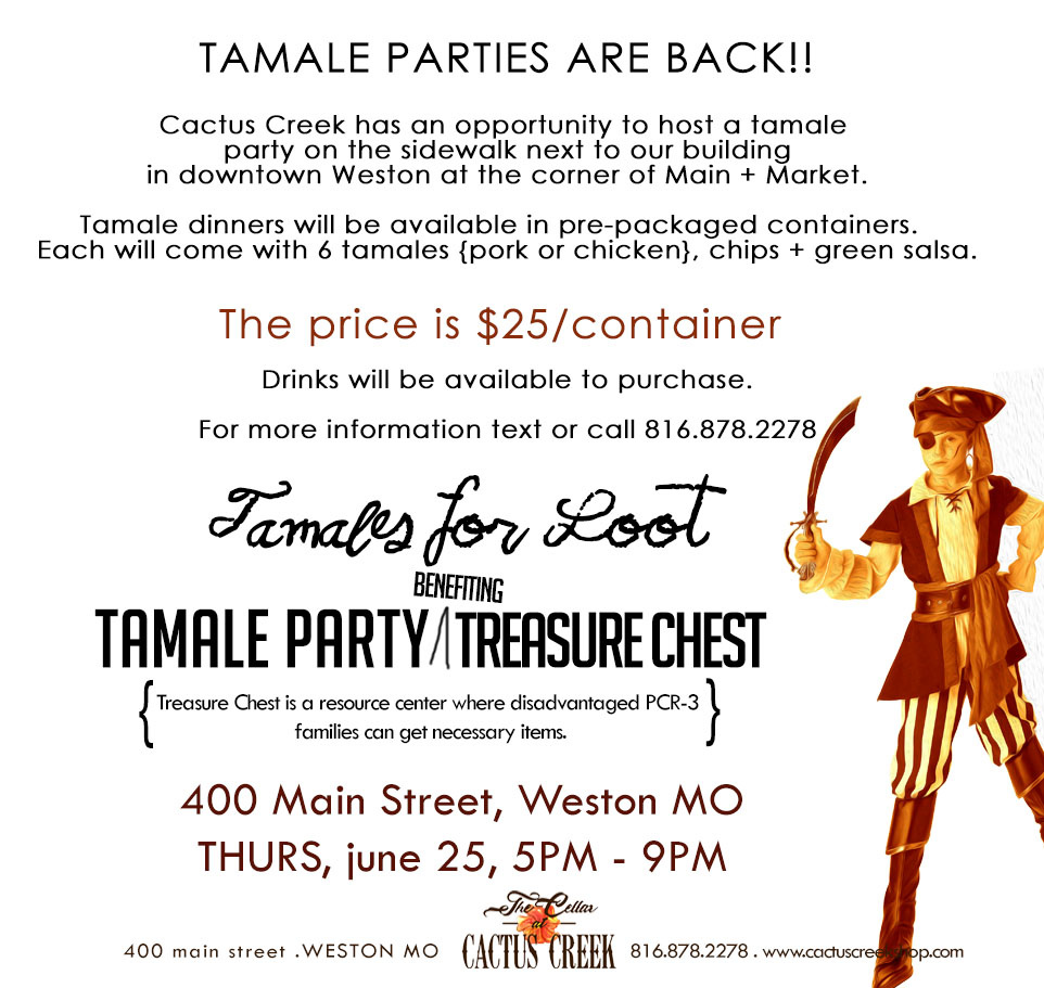 Tamale Party on the Sidewalk benefiting Treasure Chest
