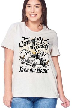 CURVY Country Roads Take me Home Tee