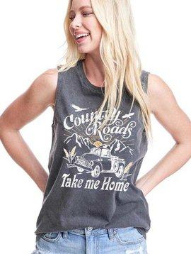 Country Roads Take me Home Sleeveless Tee