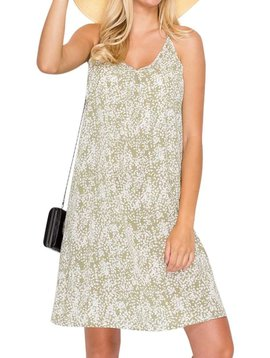 Sage Floral Tank Dress